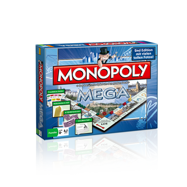 monopoly mega 2nd edition s a d shop. Black Bedroom Furniture Sets. Home Design Ideas